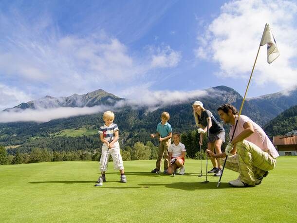 golfing holidays with the family in Gastein