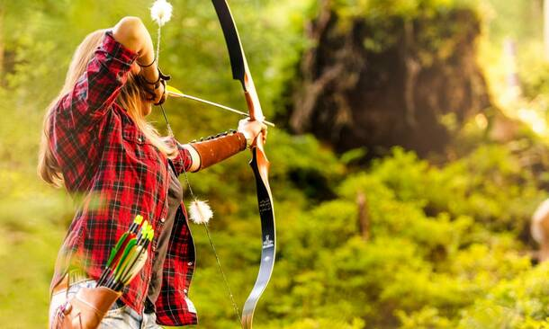archery in Gastein valley