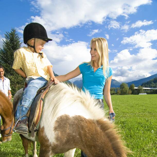 horse riding in Gastein valley